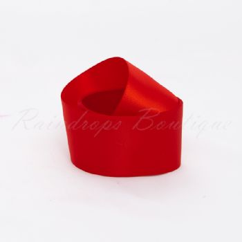 Red Double Satin Ribbon by the Metre 38mm